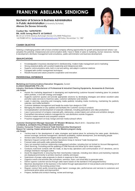 Resume Example Singapore - Examples of Resumes - Functional Resume Samples Free