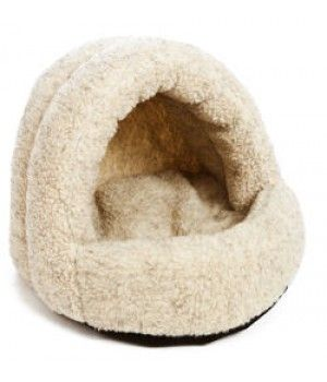 Bulington Sherpa Fleece Hooded Pet Bed Soft Dog Beds From