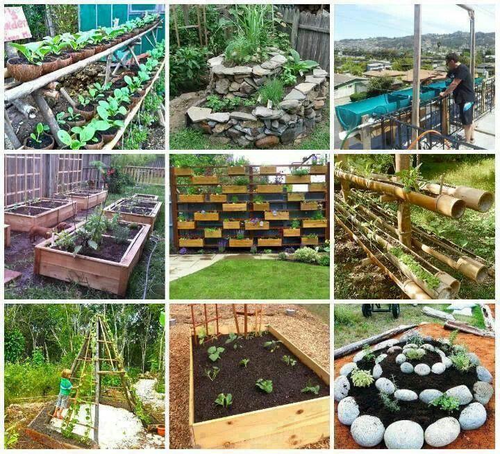 Excelentes ideas para el jardin o una pequea huerta