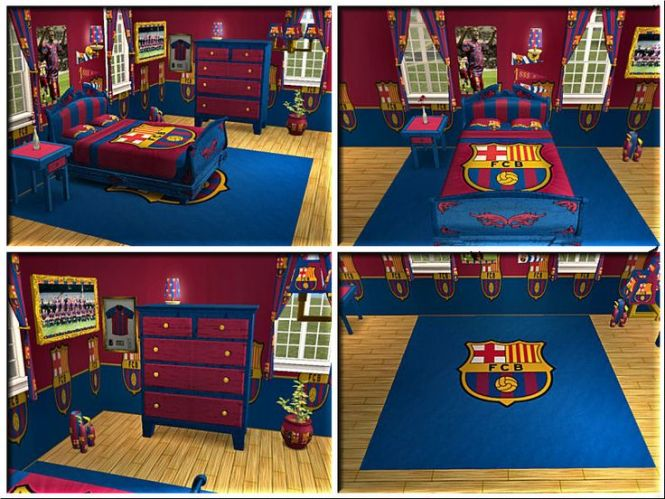 Fc Barcelona Bedroom Kades 2nd Favourite Footy Team After Spurs He Would