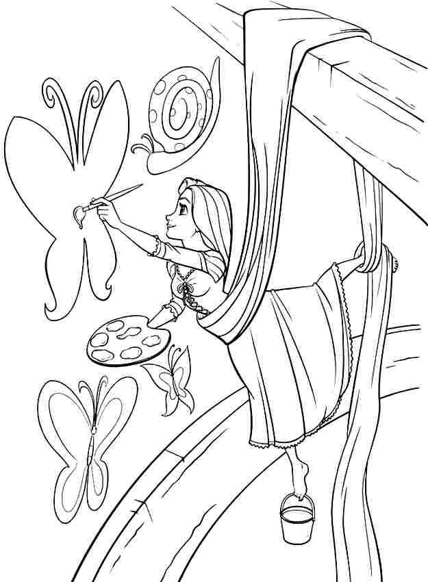 disney princess tangled rapunzel colouring sheets free