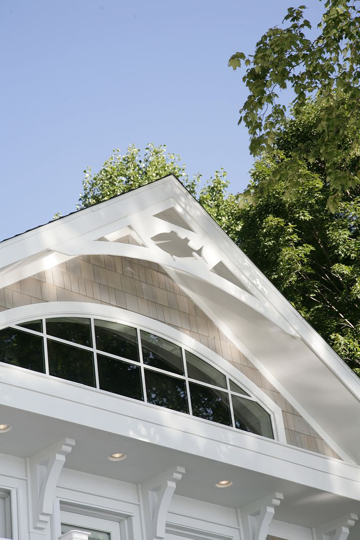 Transom window in gable end