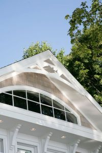 Transom window in gable end