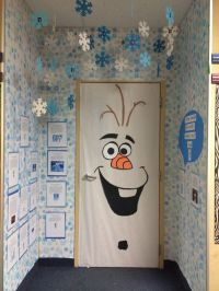 Olaf classroom door, Frozen, door decorating contest