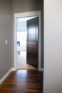 Interior Doors | white trim and door topper, paired with a ...