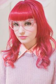 red-ish pink hair - cute hairstyle