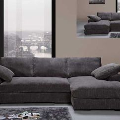 Macy Sofa Sectional La Z Boy Reclining Modern Charcoal Soft Fabric Couch ...
