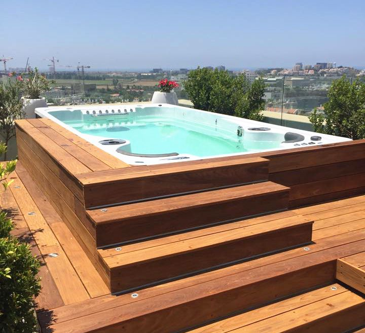 121 best images about PISCINES JACUZZI on Pinterest  Decks Small terrace and Pools