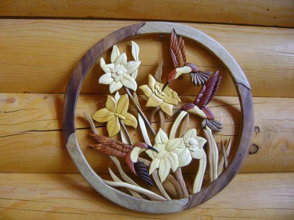 9 flowers intarsia