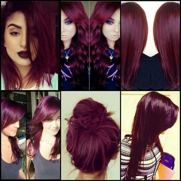Obsessed with this burgendy hair color. Such a beautiful color. More amazing and unique hairstyle at: unique-hairstyle….