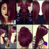 Obsessed with this burgendy hair color. Such a beautiful ...
