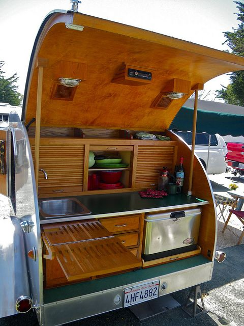Back Of The Teardrop | Could this be adapted to be built in the side of a larger trailer?
