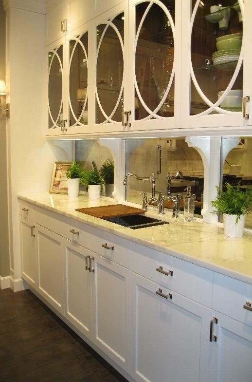 Mercury Glass Backsplash Kitchen Pinterest Mercury