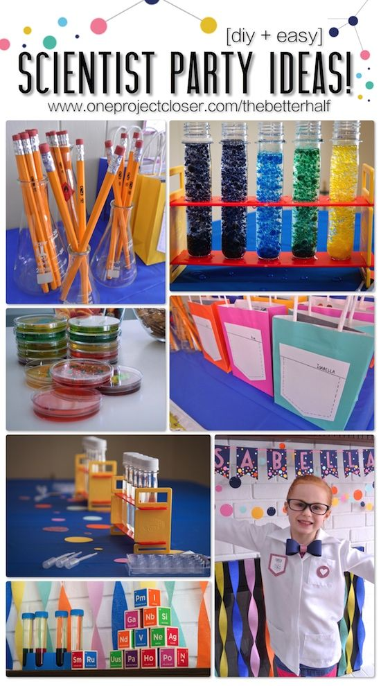 SUPER cute Scientist party with experiments, DIY, treats, accessories and more – SO SO fun!