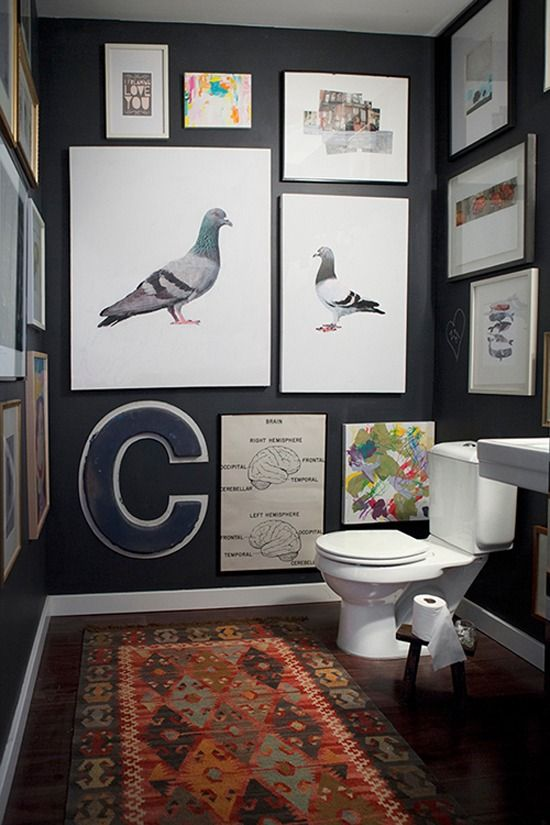 Eye Candy: 10 Bathrooms That Have Gone To The Dark Side  Curbly | DIY Design Community