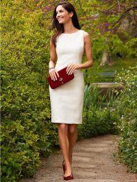 25+ best ideas about White sheath dress on Pinterest ...