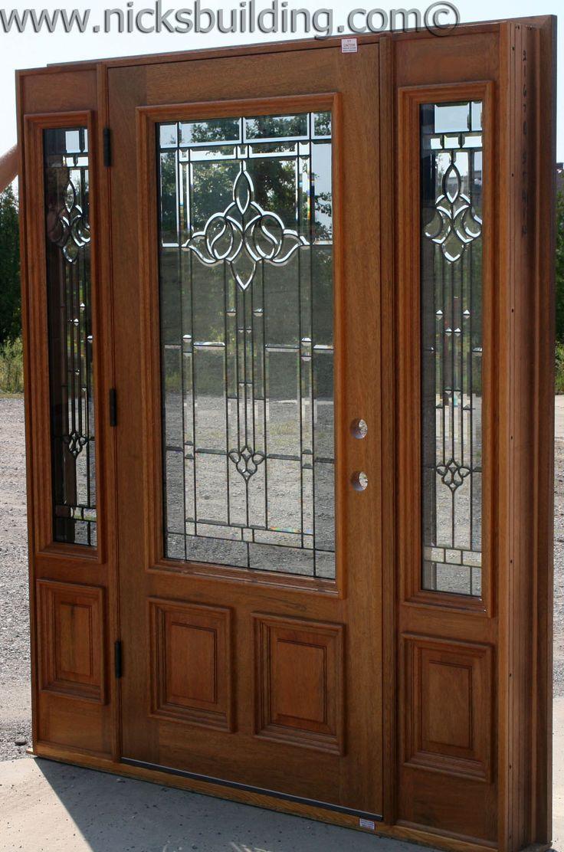 Entrance door beautiful glass detail single door with two