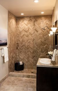 The ultimate travertine tile shower. #thetileshop ...