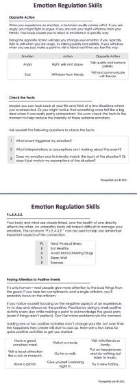 108 best images about Emotion Regulation (DBT) on