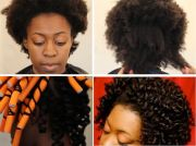 stretch 4c hair with flexi rods