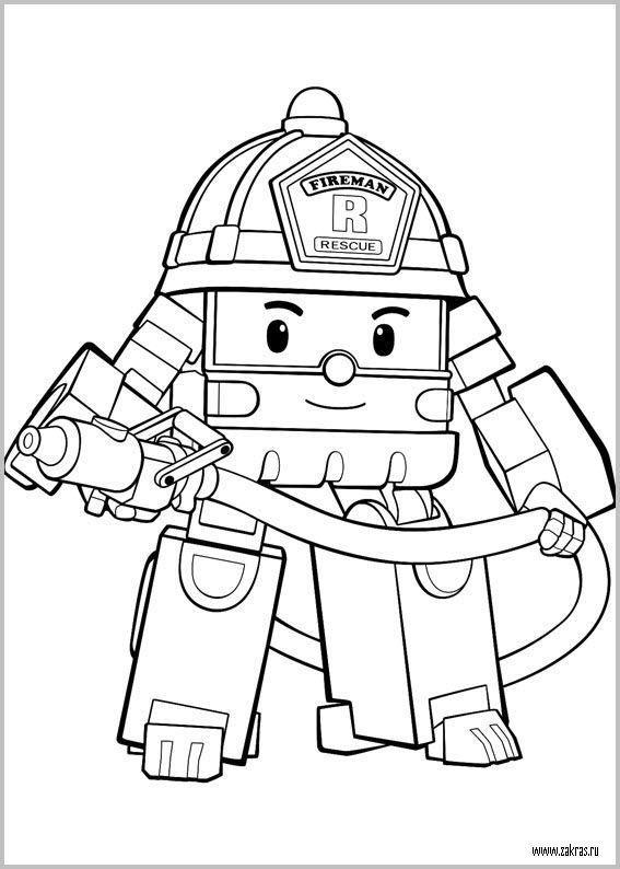 Раскраски Робокар Поли и его друзья (Robocar Poli coloring