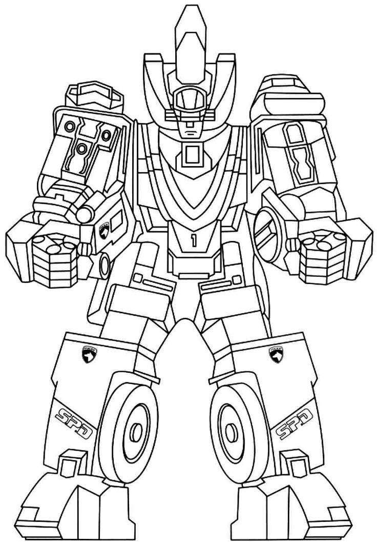Print Full Size Image : Power Rangers Colouring Pages Free