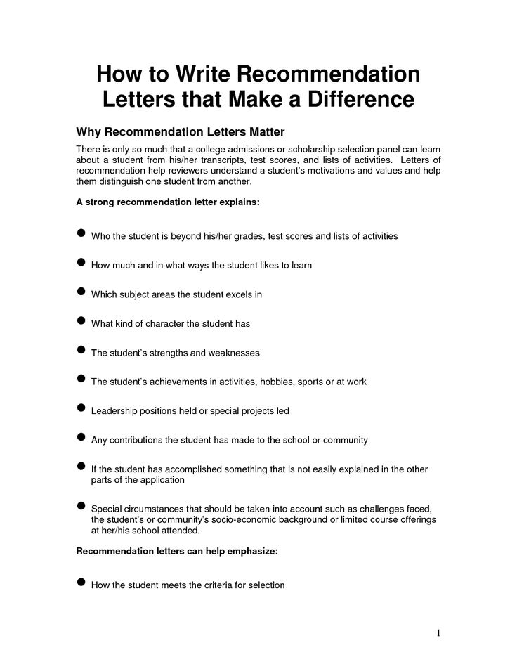 Free Letter of Reference Template  Recommendation Letter Template  letter example  Pinterest