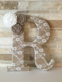 25+ best ideas about Burlap Flowers on Pinterest