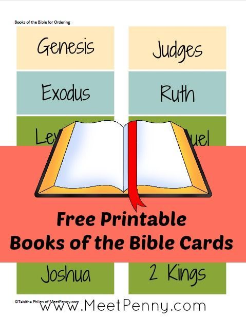 Free Printable Books of the Bible Ordering Cards | The o ...