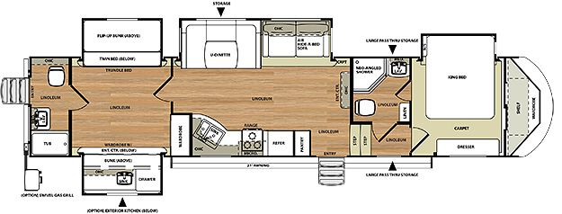fifth wheel with 2 bathrooms - home design