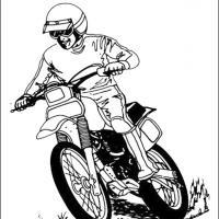 Coloring sheets, Printable coloring sheets and Dirt bikes