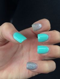 Teal acrylic nails | Acrylic nails | Pinterest | Summer ...