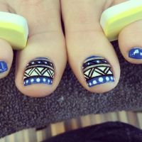 17 Best ideas about Tribal Toe Nails on Pinterest