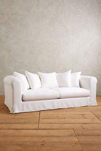 Basketweave Linen Novalie Slipcover Sofa | Furniture ...