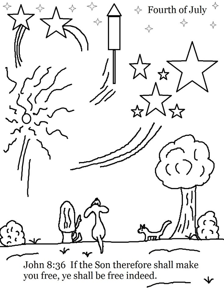 Fourth of July Coloring Page.jpg 1,019×1,319 pixels