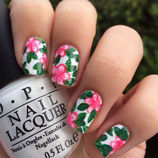 25+ Best Ideas about Hawaiian Flower Nails on Pinterest