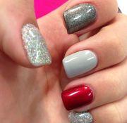 love idea of grey nails