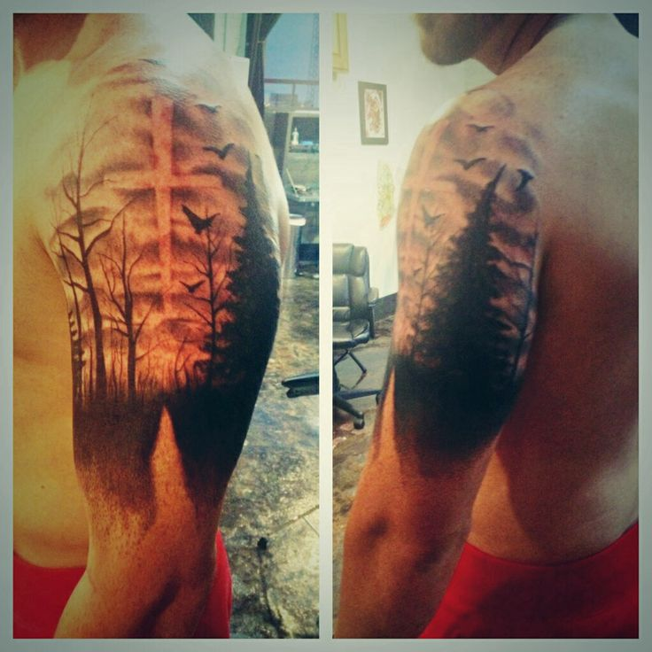 Nature tattoo pathway cross forrest  My Style  Pinterest  Crosses Nature and Pathways