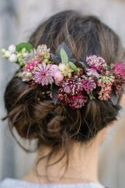 ideas flower hair
