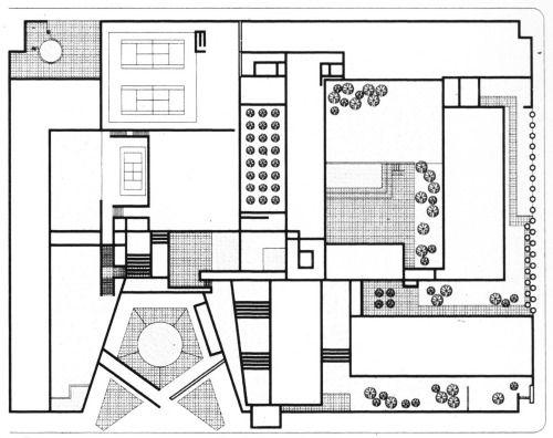 Ricardo Legorreta, Camino Real Mexico Hotel, Floor Plan