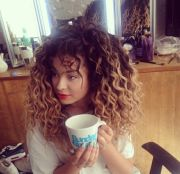 curly ombre hair - google