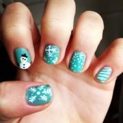 winter nail design nails