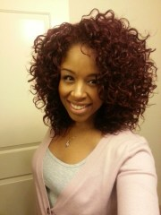 wash curls set with mixed