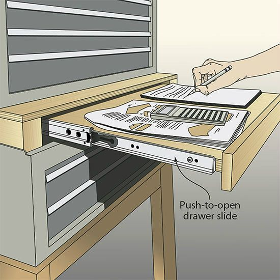 Drawer In Between Metal Stacked Tool Bo To Act As A Desk Leave Room Above Sliding Board So Papers Designs Can Be Kept At The Ready