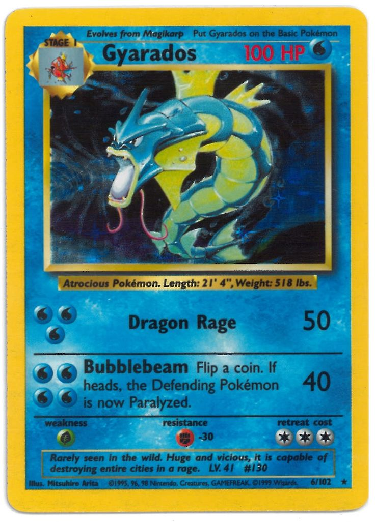 Gyarados Pokemon Card Google Search Art Endeavors
