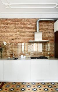 10 Best ideas about Kitchen Brick on Pinterest