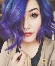 ideas short purple