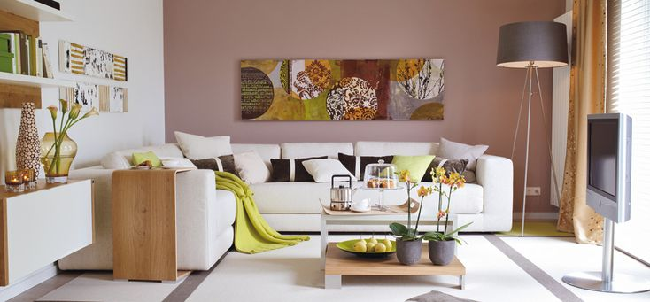 Farbidee Wohnzimmer Kuschelig im RetroTrend  SCHNER WOHNENFARBE  Haus  Pinterest  Trends