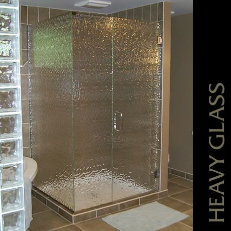 This unit features Monumental patterned glass and Chrome hardware Photo courtesy of Mark Funke