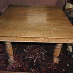 Square Pedestal Kitchen Table Quartz Sinks 5 Leg Large Antique Golden Oak Era Paw Foot Dining ...
